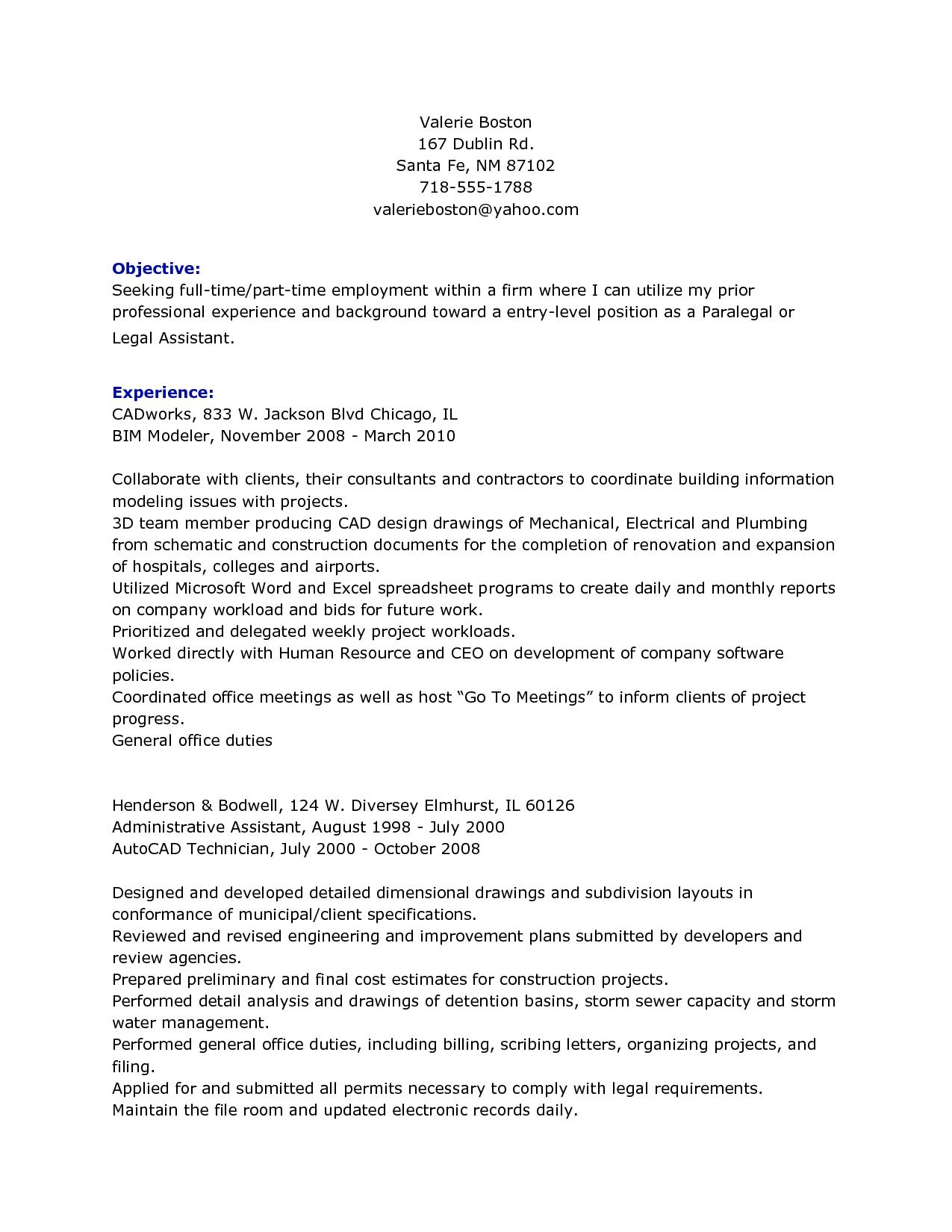 Personal Injury Paralegal Resume Job Resume Samples Job Resume Examples Resume Examples