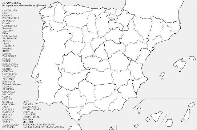 Provincias Con Lista Para Colocarlas Incluyendo Las Capitales De Provincia Cuando Su Nombre Es Material Didactico Para Matematicas Materiales Didacticos Mapas