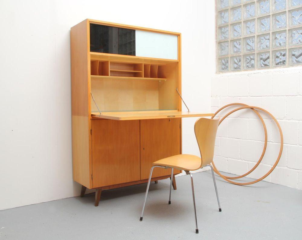 50er sekret r dwm deutsche werkm bel bauhaus stil. Black Bedroom Furniture Sets. Home Design Ideas