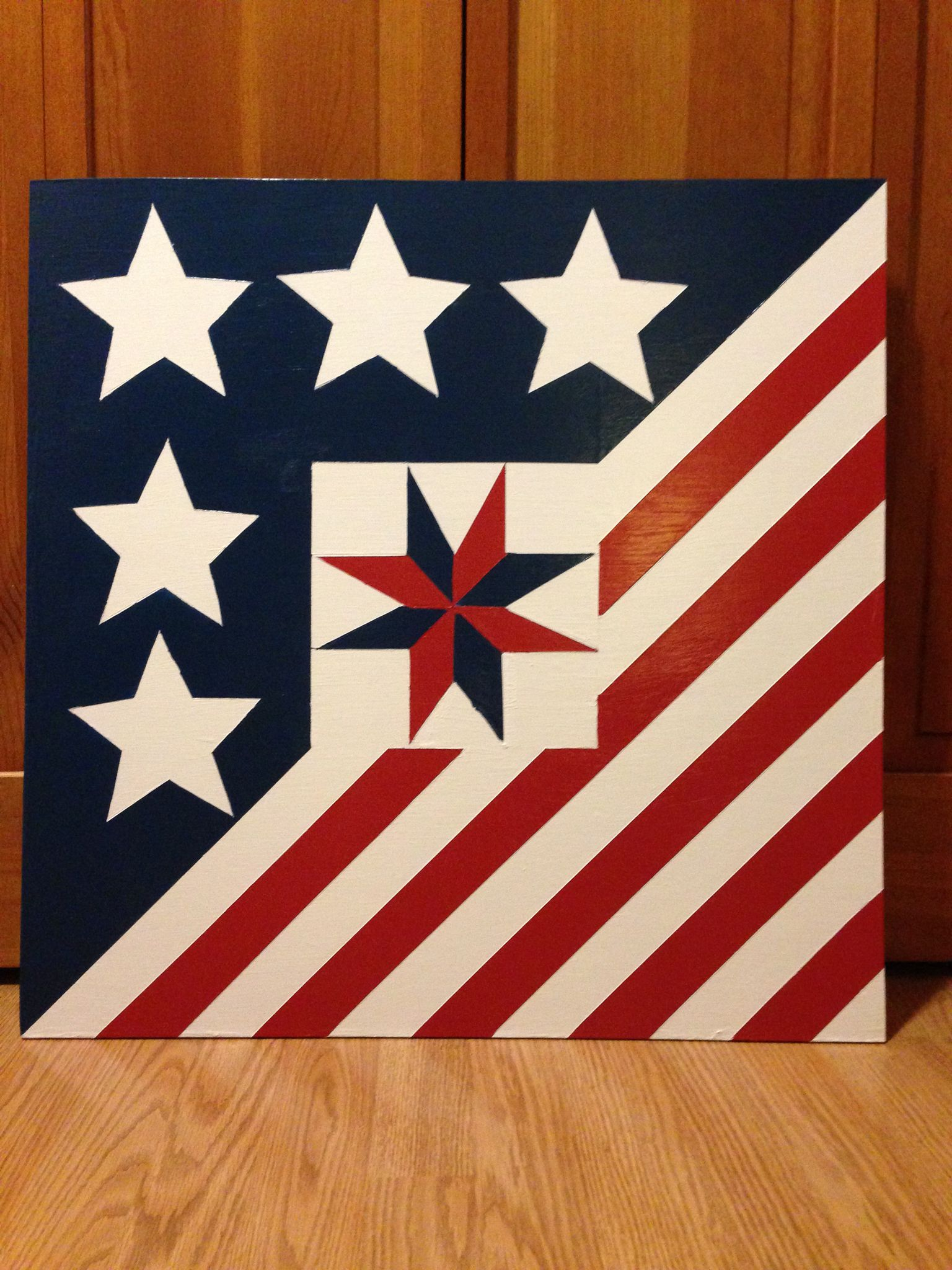 This 2x2 barn quilt was made for a special couple.  Watch for it to be hung soon in Jamestown, IN!