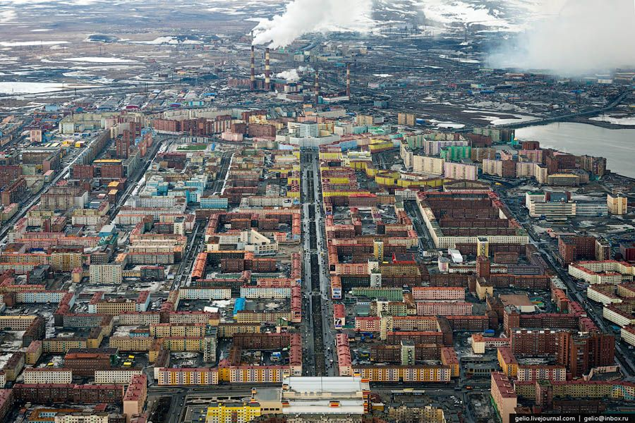 Industrial City Of Norilsk From The Helicopter Norilsk City From Above World Most Beautiful Place
