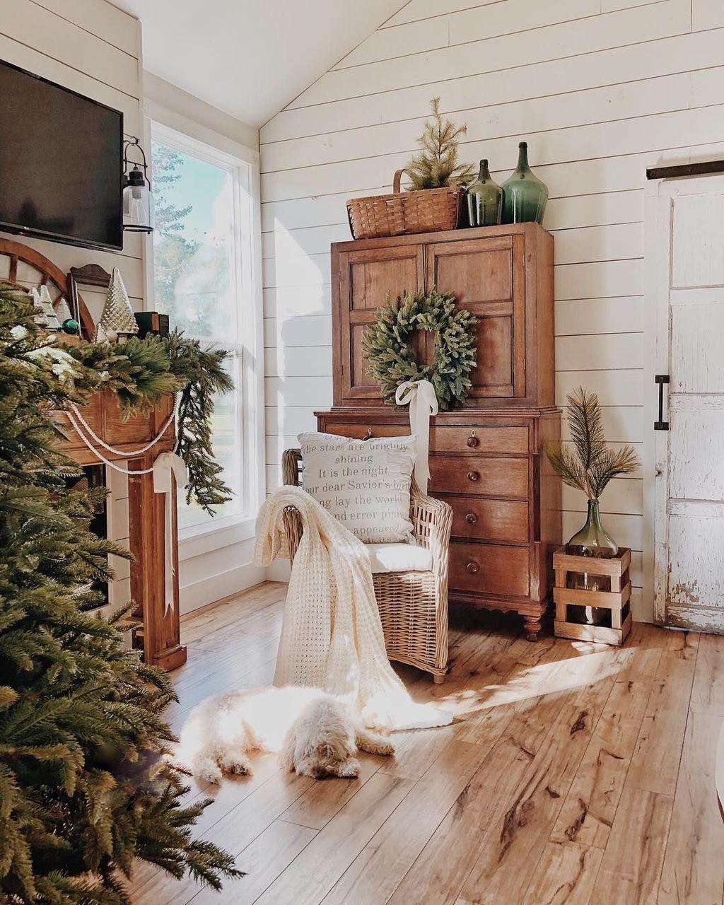 48 Beautiful Farmhouse Winter Decor Ideas Winter Home