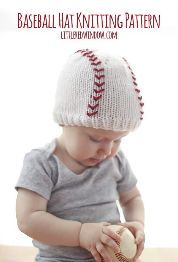 Baseball Baby Hat Knitting Pattern | knitting/crochet | Pinterest ...