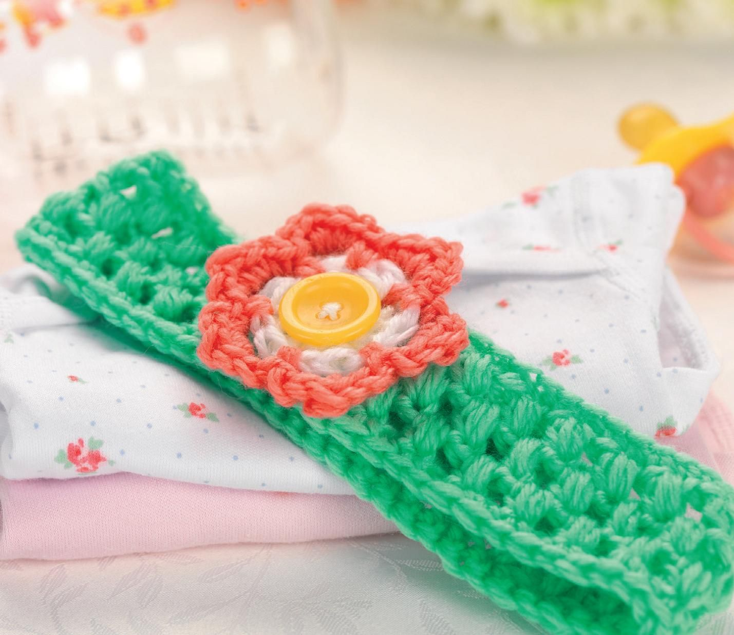 Crochet flower baby headband | Crochet! | Pinterest | Crochet ...