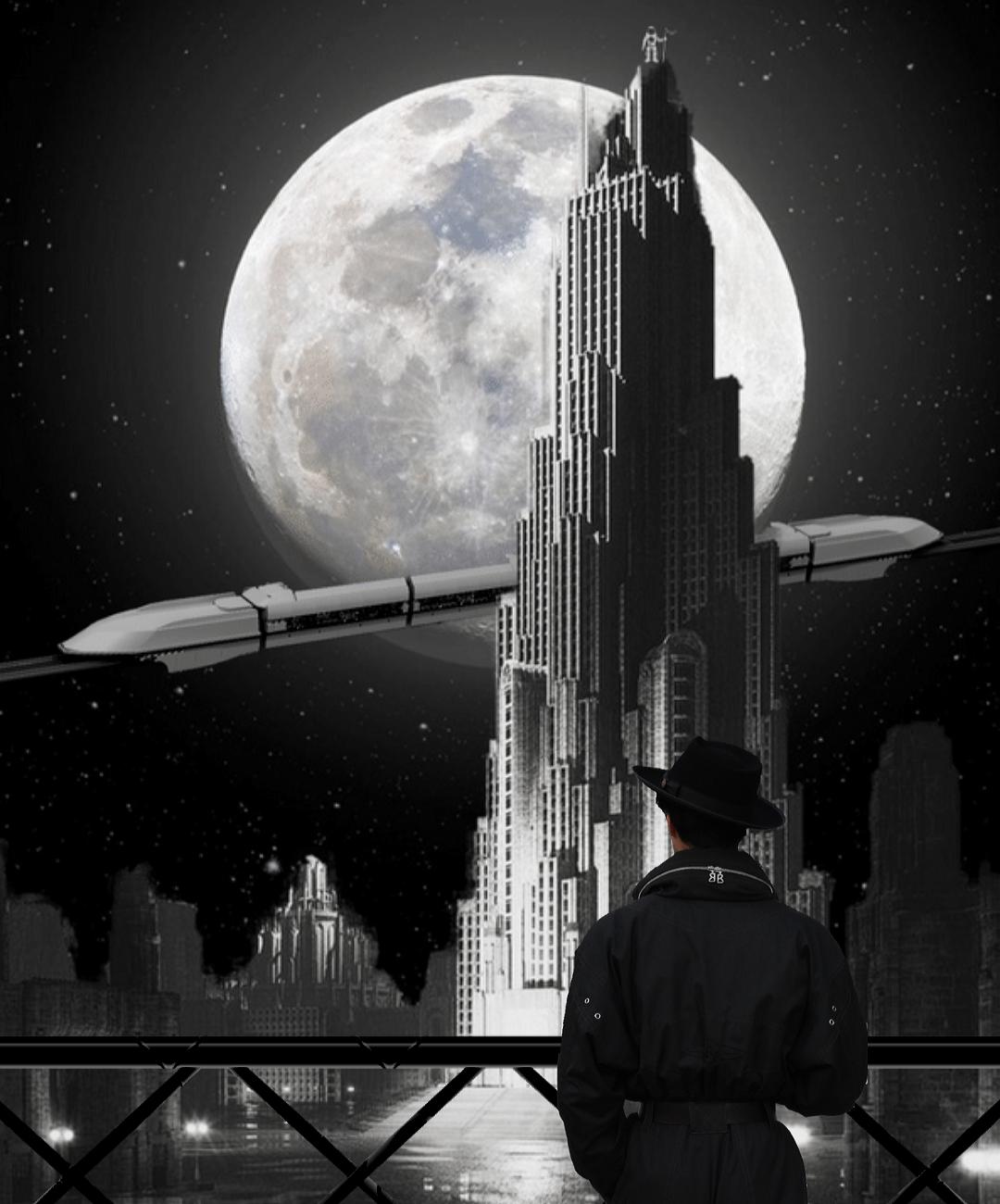 Futuristic, Earth, City View