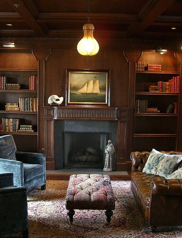 Wood Paneled Room Design: Multifunctional Wood Paneling For Walls