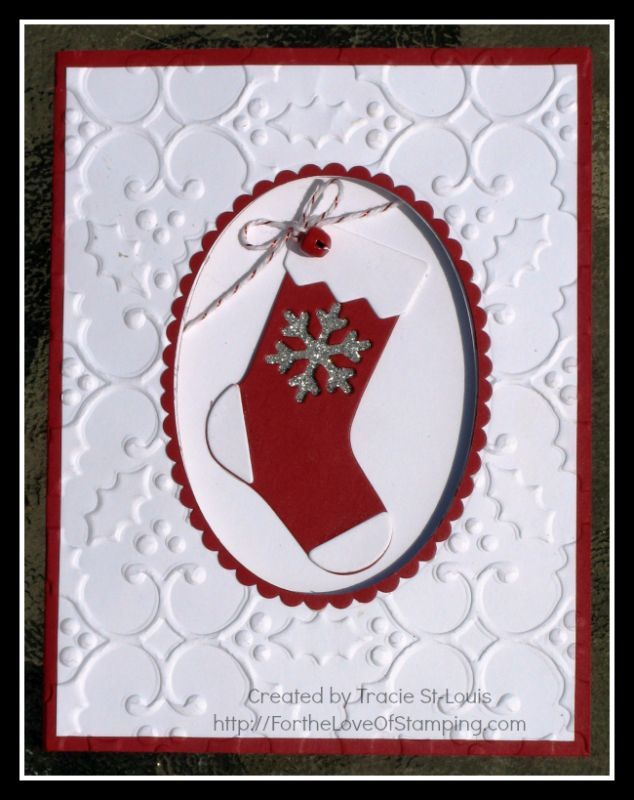 Paper Craft Christmas Card Ideas Part - 32: Ready For Santa To Fill My Stocking By Tstlouis - Cards And Paper Crafts At  Splitcoaststampers