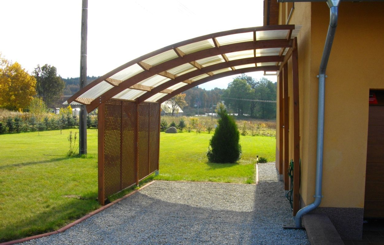 Ludlow Leanto Carport Carport, Holzpavillon, Holz pavillon