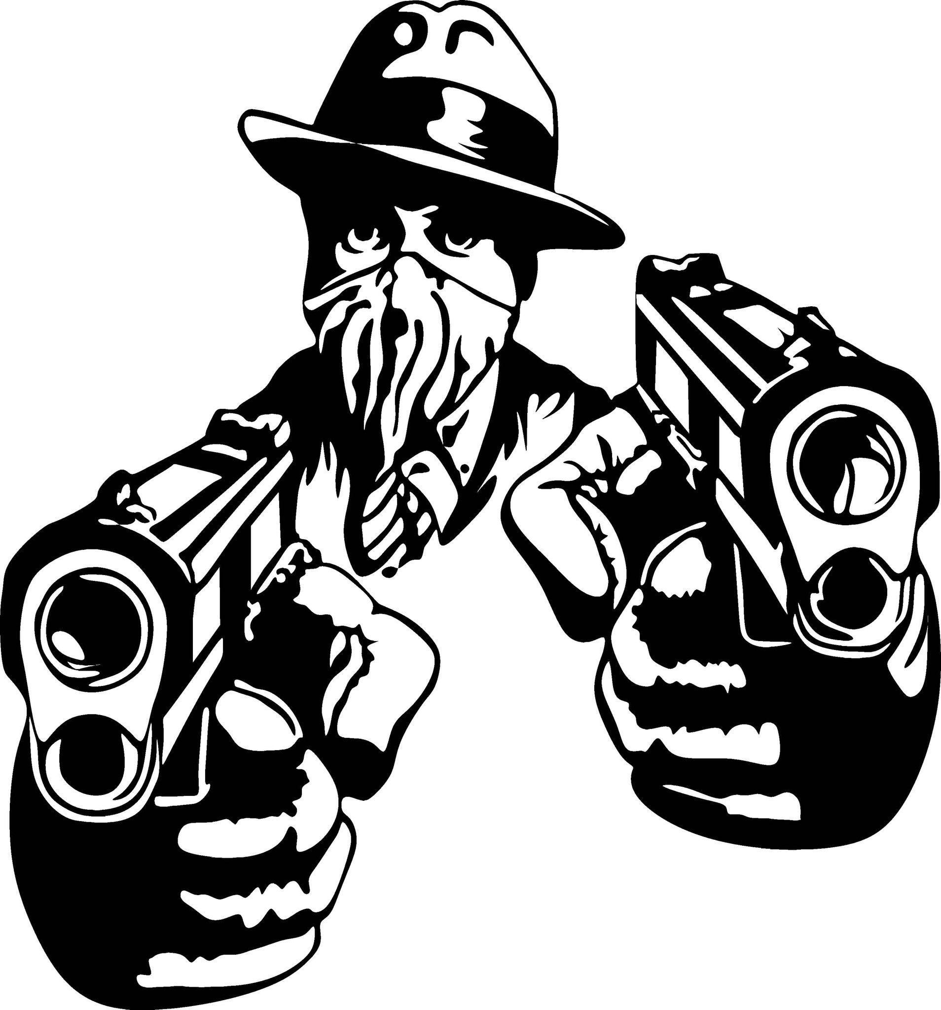 gangster al capone vinyl decal graphic choose your color and size rh pinterest com Robert De Niro Baseball Bat Untouchables Baseball Bat