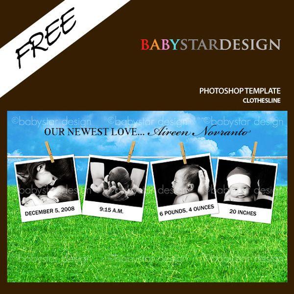 CLOTHESLINE PHOTOSHOP TEMPLATE (FREE)   Photoshop stuff   Pinterest ...