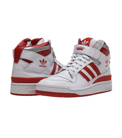 cfec2b5c8df82 adidas MENS Forum Mid Refined White | Watch His Feet!!!! in 2019 ...