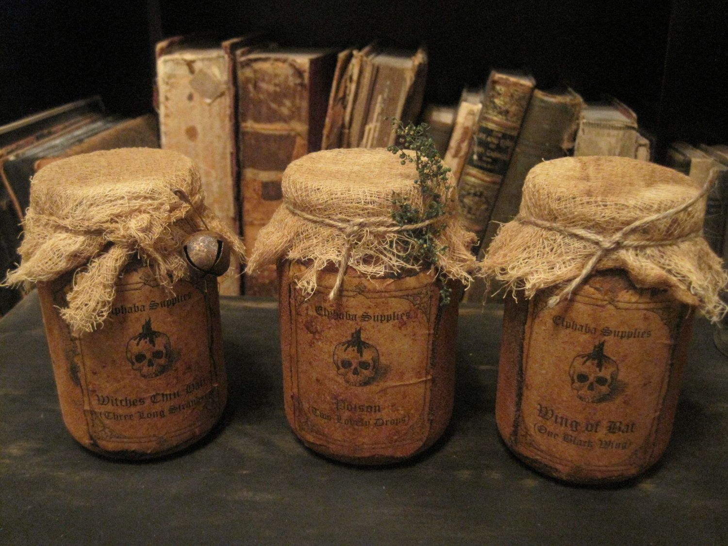 witch potion jars miniatures hand made pinterest witches