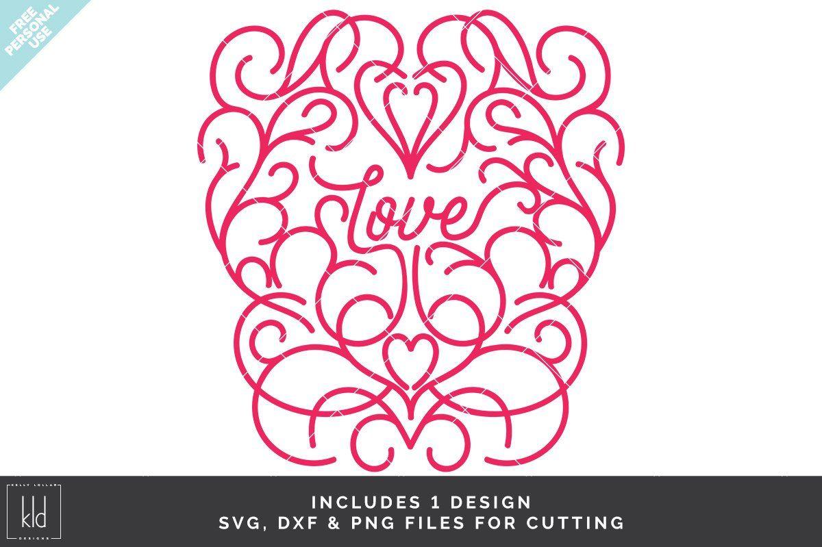 Download Love with Scrolls - Kelly Lollar Designs | Svg, Craft ...