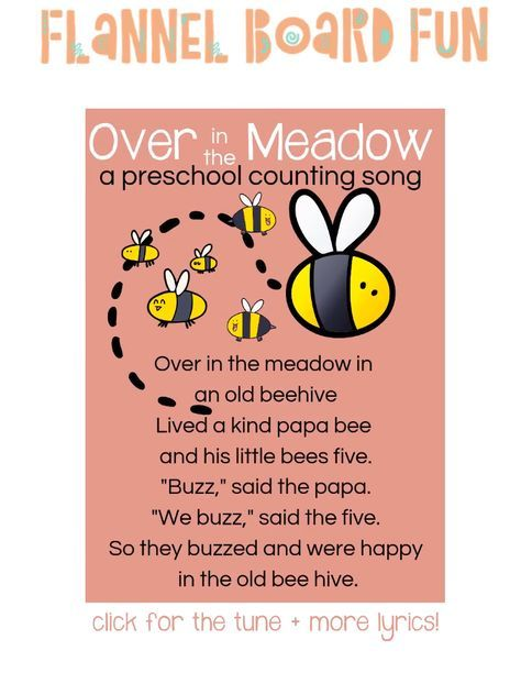Over in the Meadow Flannel Board Preschool Song for Circle Time or Library Storytime