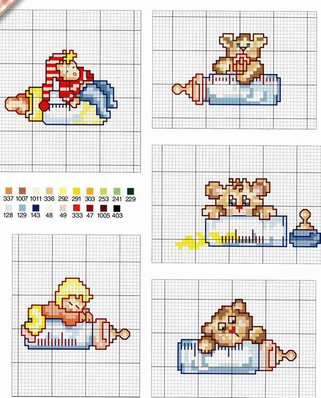 Schemi piccoli nascita baby punto croce punto croce for Punto croce bambini nascita