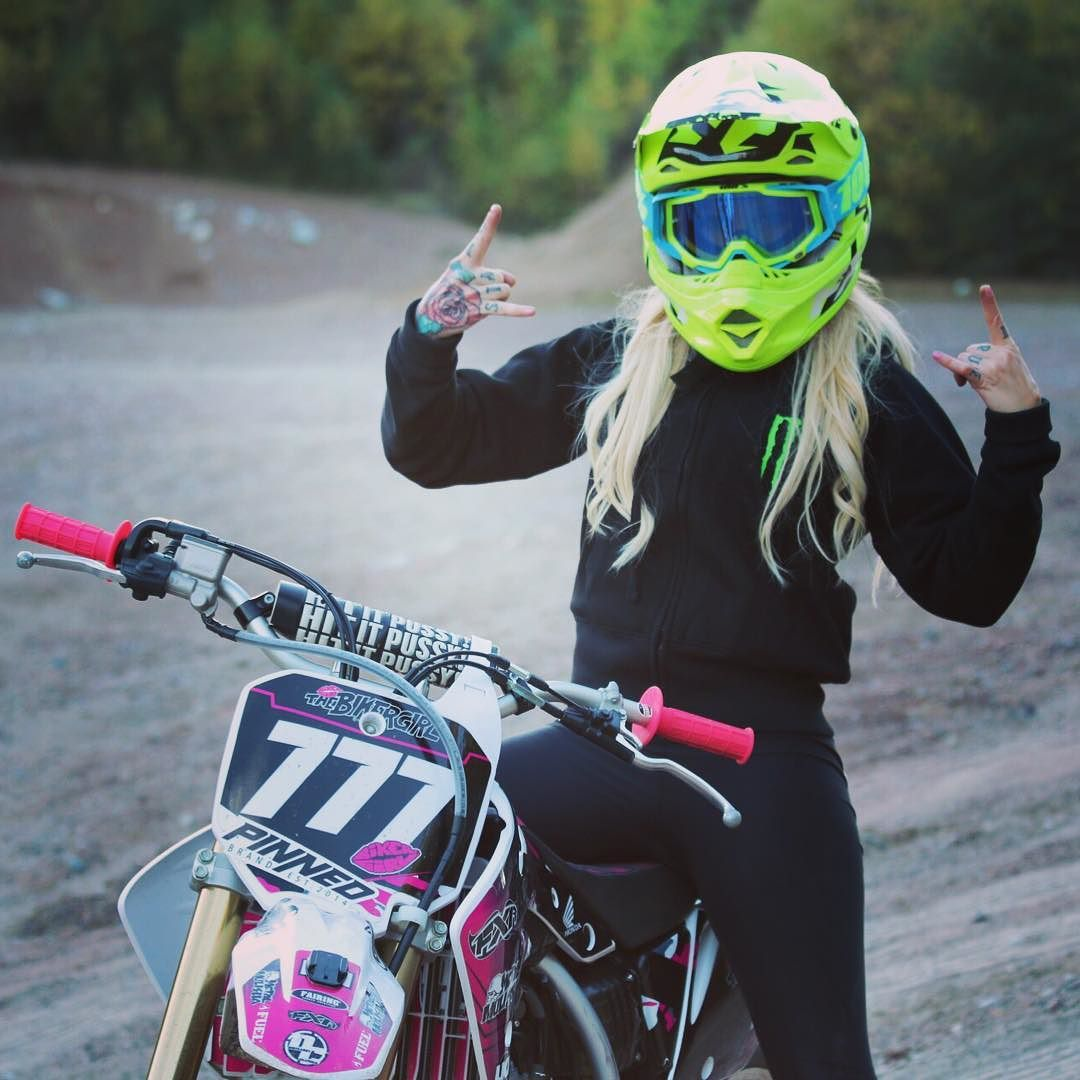 Motocross Helmets Motocross Woman And Dirt Biking