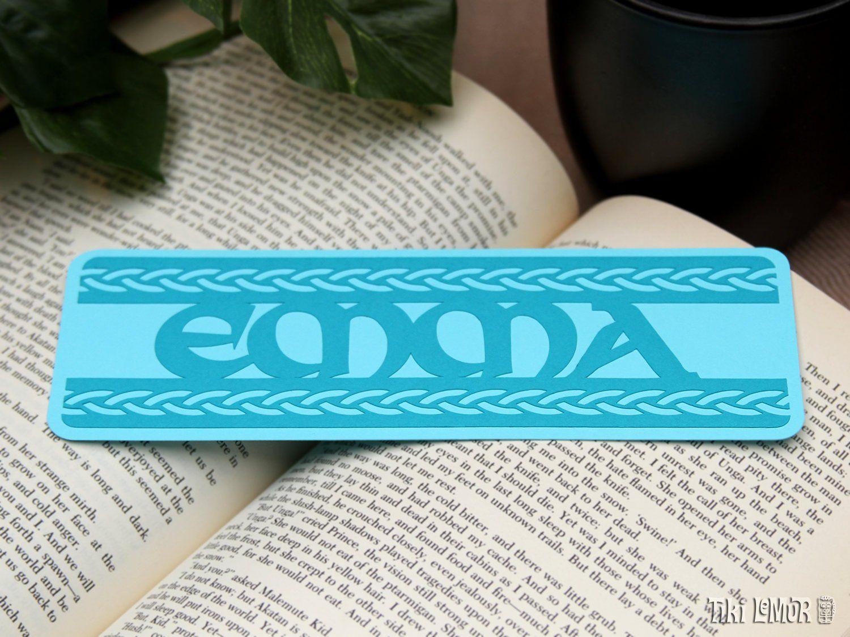 Celtic Bookmark Personalized Book Lover Gift Reader Literary Birthday Unique Custom Designed By Tiki Lemur TikiLemur On
