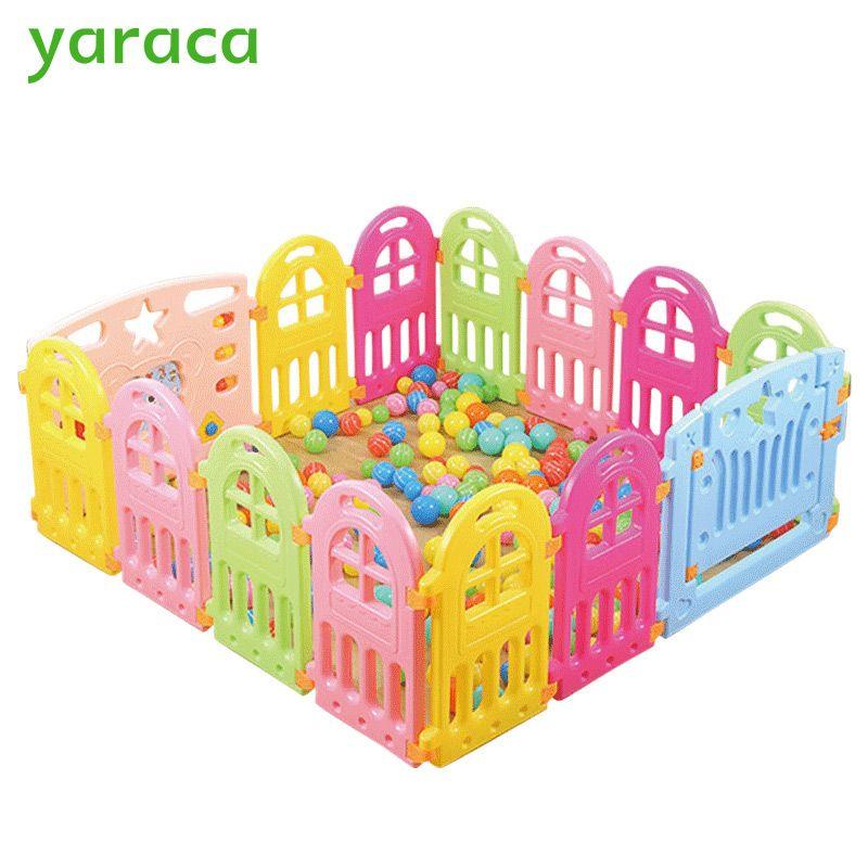 befa77ff6 Baby Playpen Plastic Fencing For Children Indoor Game Play Yard ...