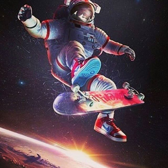 astronaut skateboarding - photo #9
