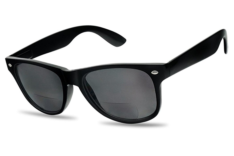 Classic Outdoor Reading Sunglasses Stylish Comfort Prescription Rx  Magnification Sun Readers - Black (Bifocal) - C412NBW1ZXL-Men s Sunglasses af4950aa9af