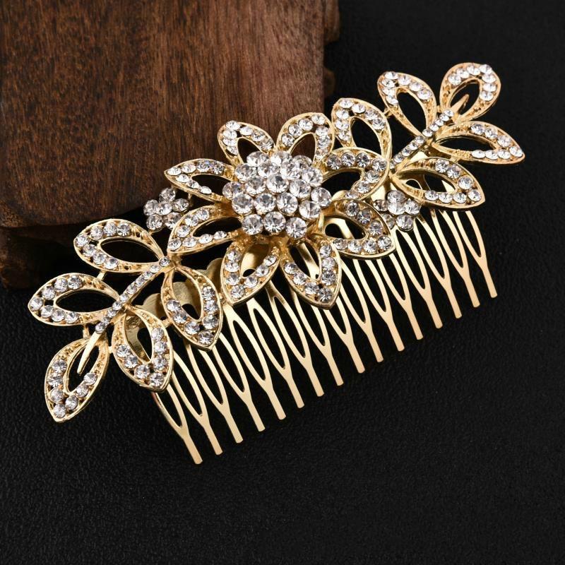 5x Metal Hair Combs Slides Clip Tiara Fascinator Making DIY Headdress Black