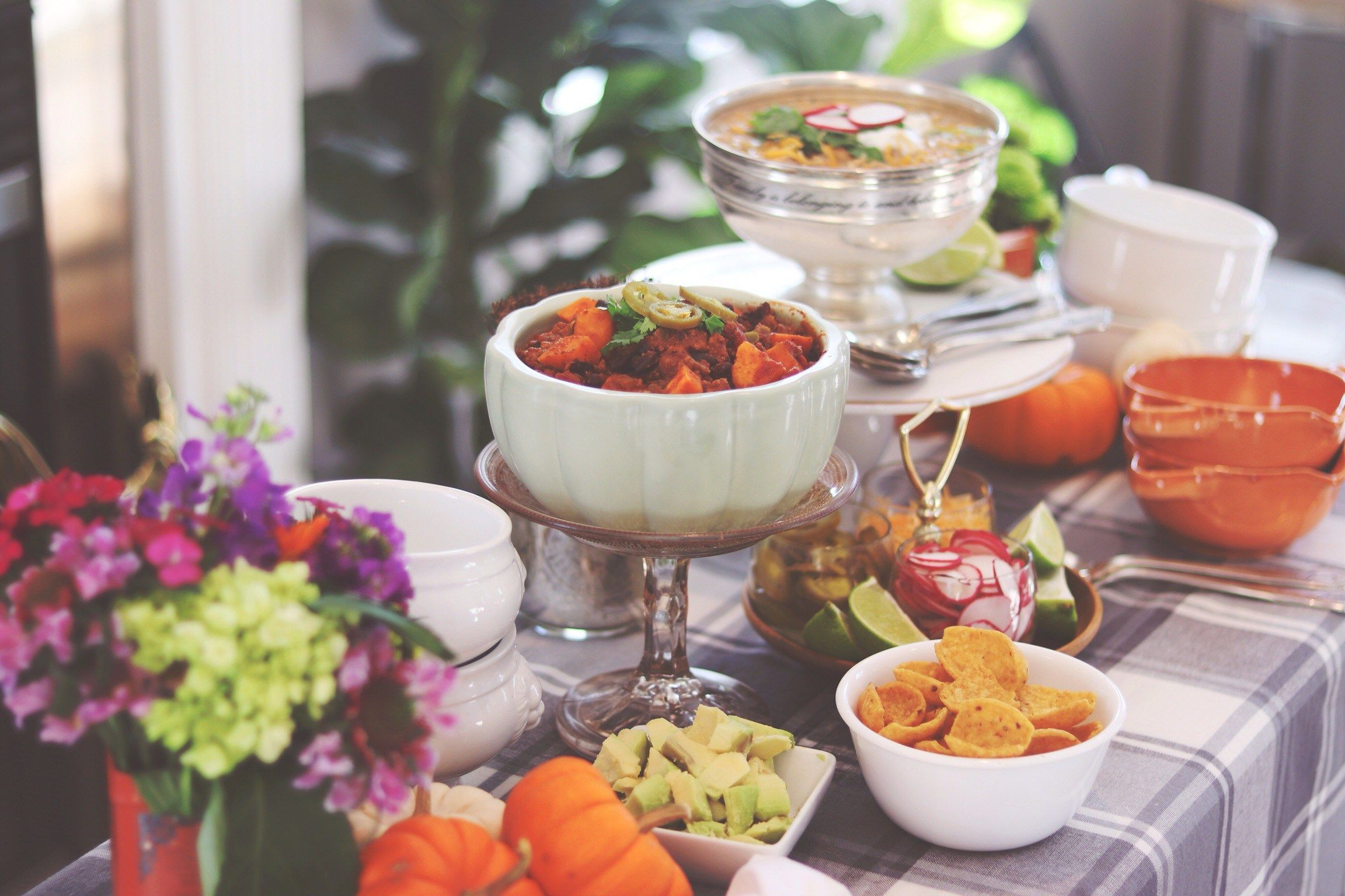 Build an Epic Chili Bar to Affordably Feed a Crowd #chilibar Toppings to help create an Epic Chili Bar #chilibar
