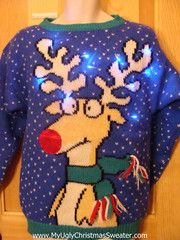 Lights give this ugly Christmas sweater a little something special ...