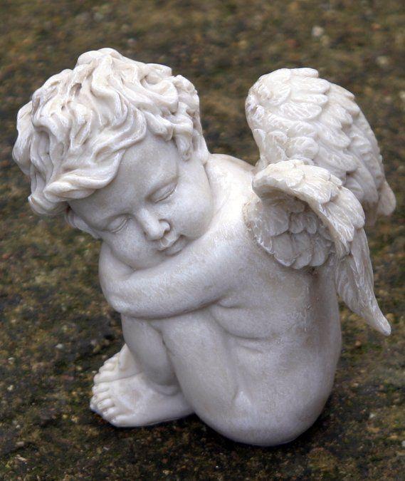 Small Sleeping Angel Cherub Garden Statue Tattoos Angel Cherub