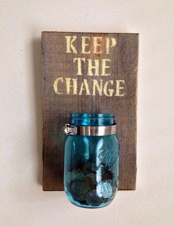 KEEP THE CHANGE - Laundry room decor