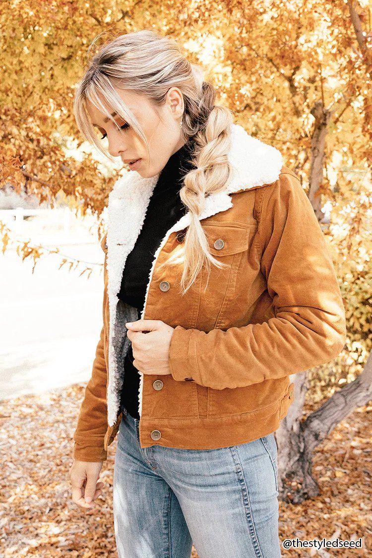 7b2fec2c28 Product Name Faux Shearling Velvet Jacket
