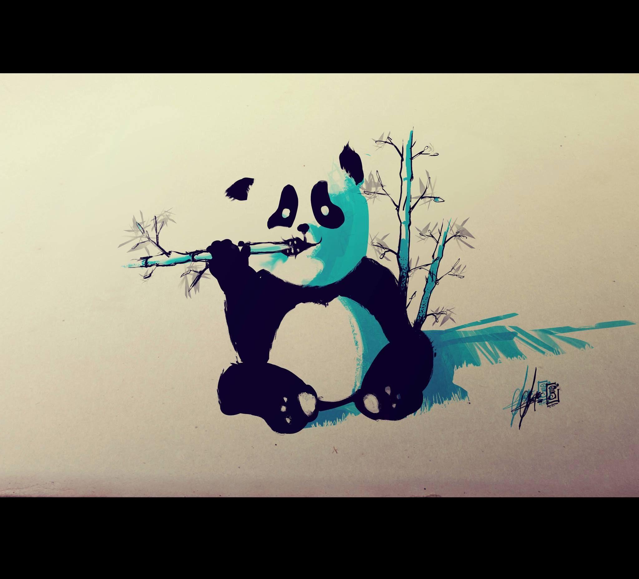 Great use of color Flash tattoo, Bamboo tattoo, Panda tattoo