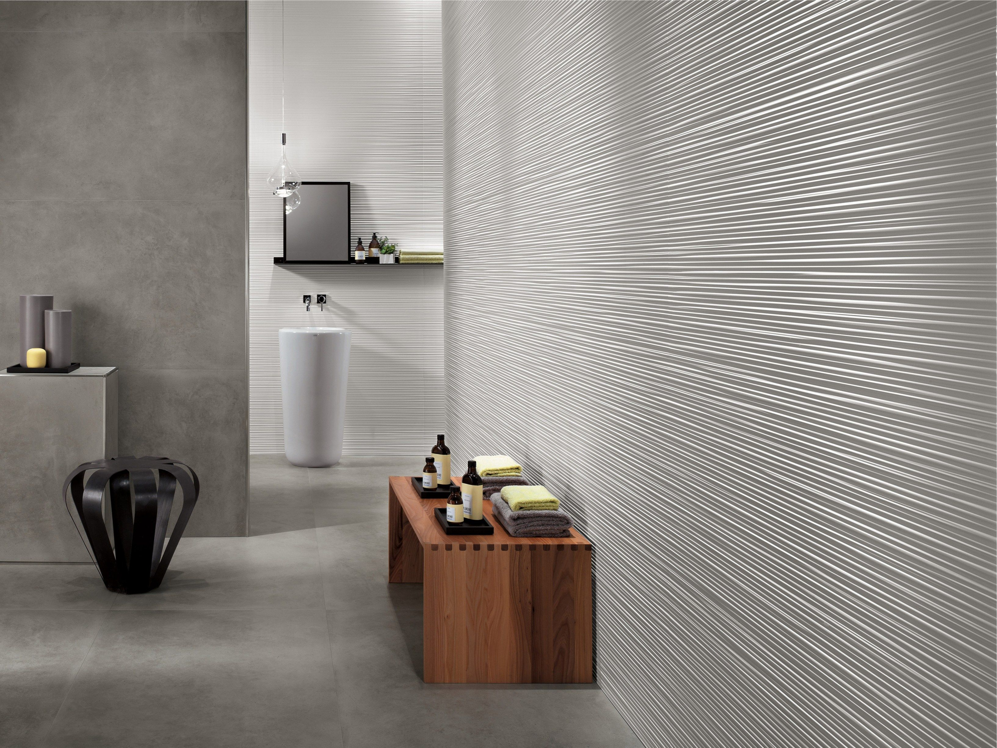 Revestimiento de pared 3d en pasta blanca para interiores for Ceramica para pared