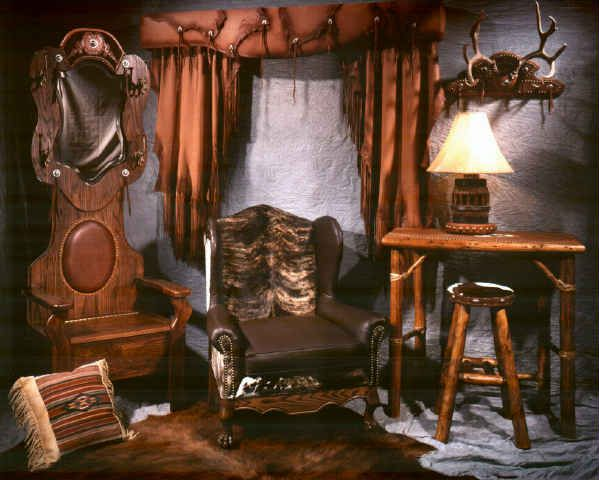 Cowboy Chic Decorating Ideas New Interior Including Western Leather Curtains