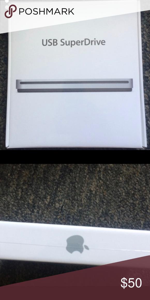 Apple USB SuperDrive Apple USB SuperDrive with attached