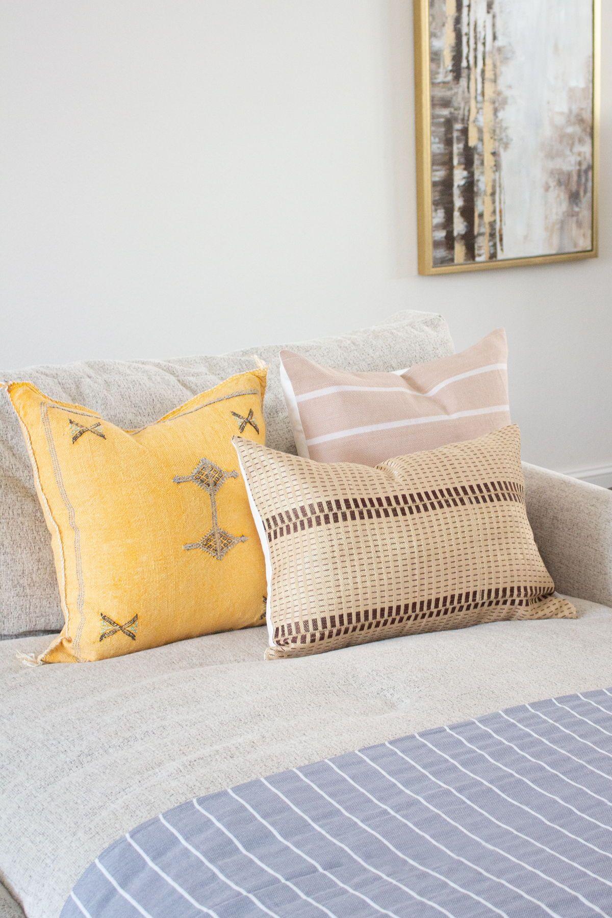 African Handwoven Textured Lumbar Throw Pillow Cover