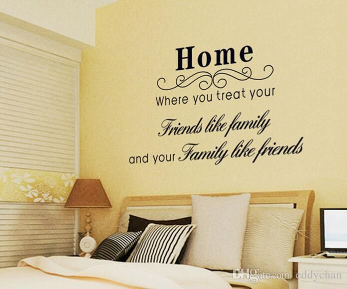 Cute Words Wall Stickers Quote Letters/Words Removable Family Wall ...
