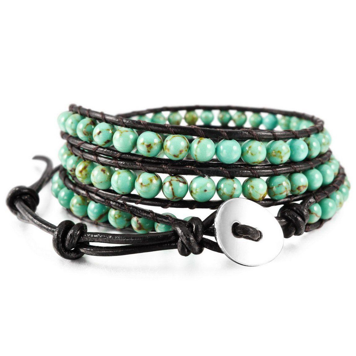 Inblue menwomenus alloy genuine leather bracelet bangle cuff rope