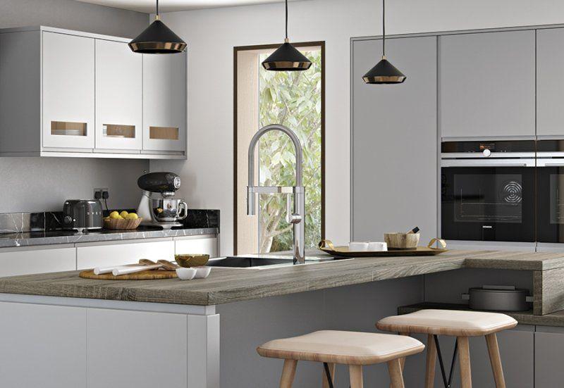 Best Strada Matte Contemporary Kitchen Modern Kitchen Design 400 x 300