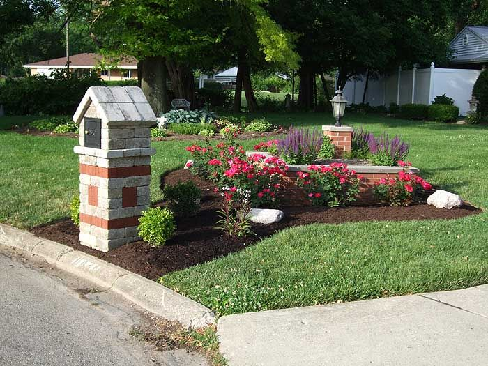 Landscaping around mailbox oh hardscape design and for Best mailbox design