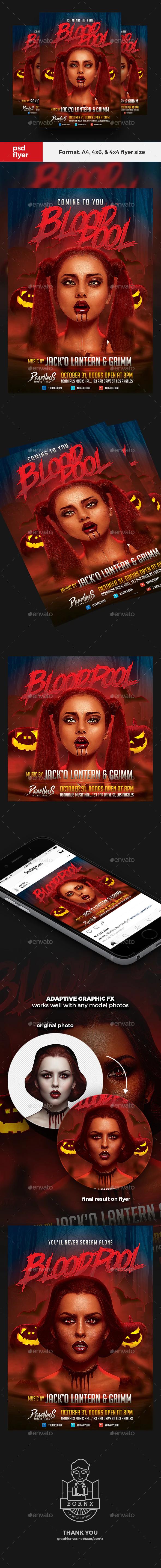 Pin Di Flyer Halloween Design Template