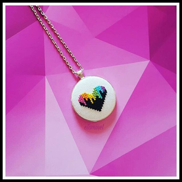 Pinterest Defne14bahceci Cross Stitch Necklace Stitch Jewelry