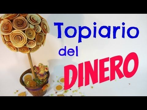 Tutorial: Topiario del dinero. Money topiary.