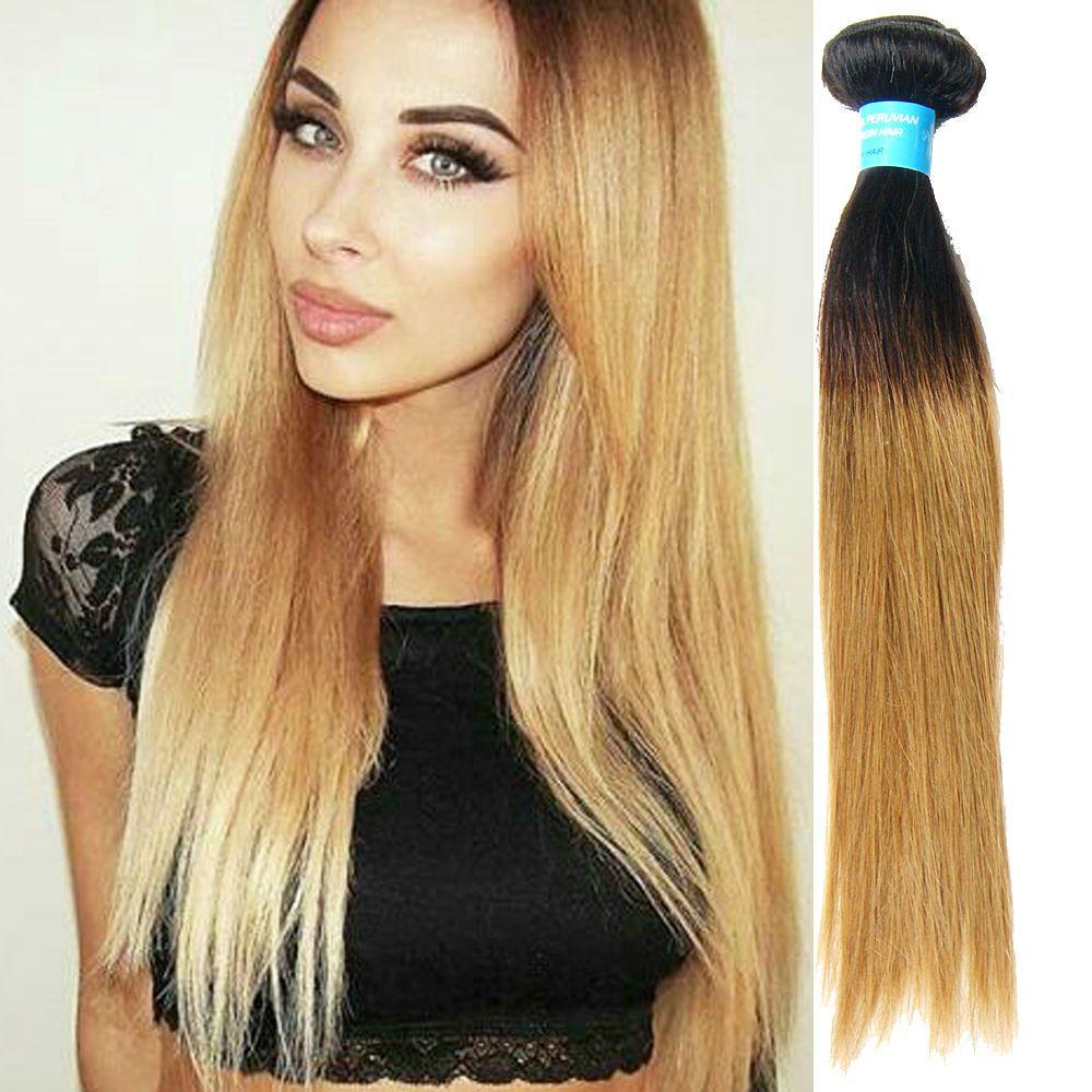 B tone real human hair extensions high quality straight hair