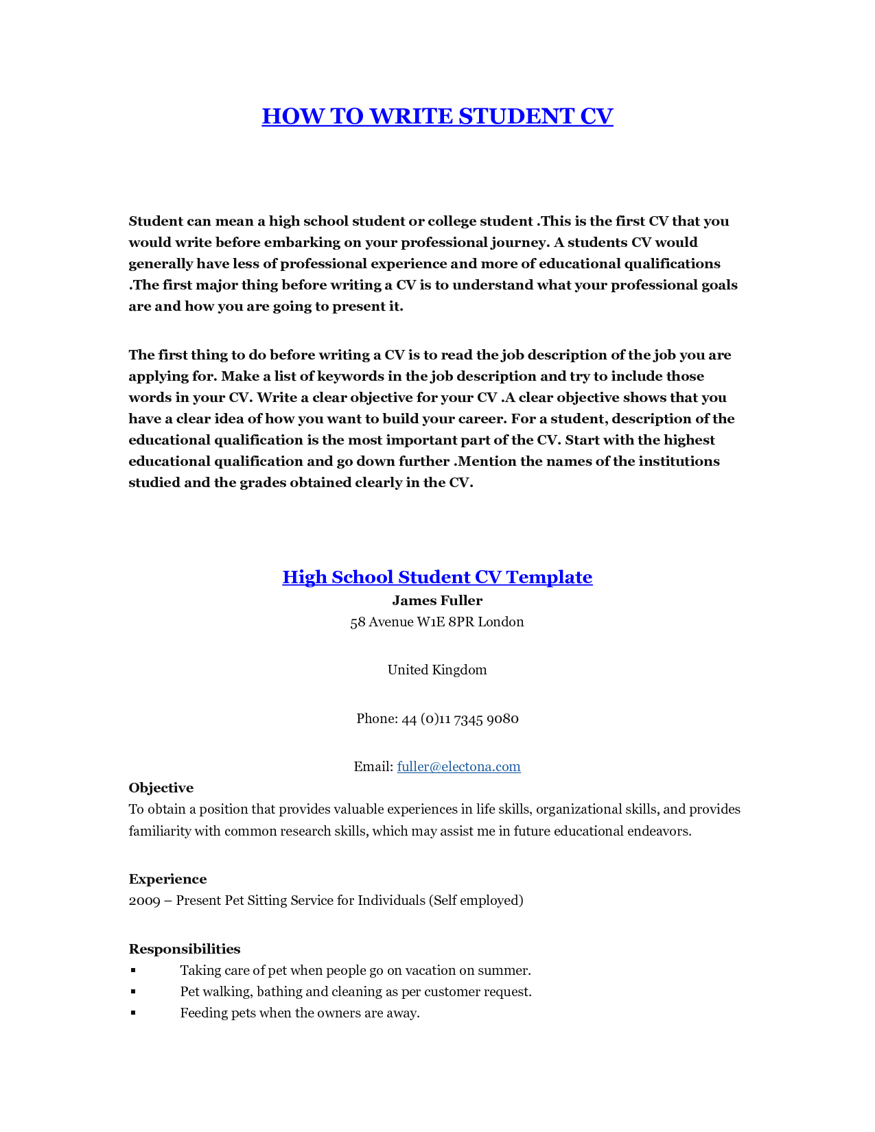 How To Make A Resume For Teenagers How To Make Resume For Students