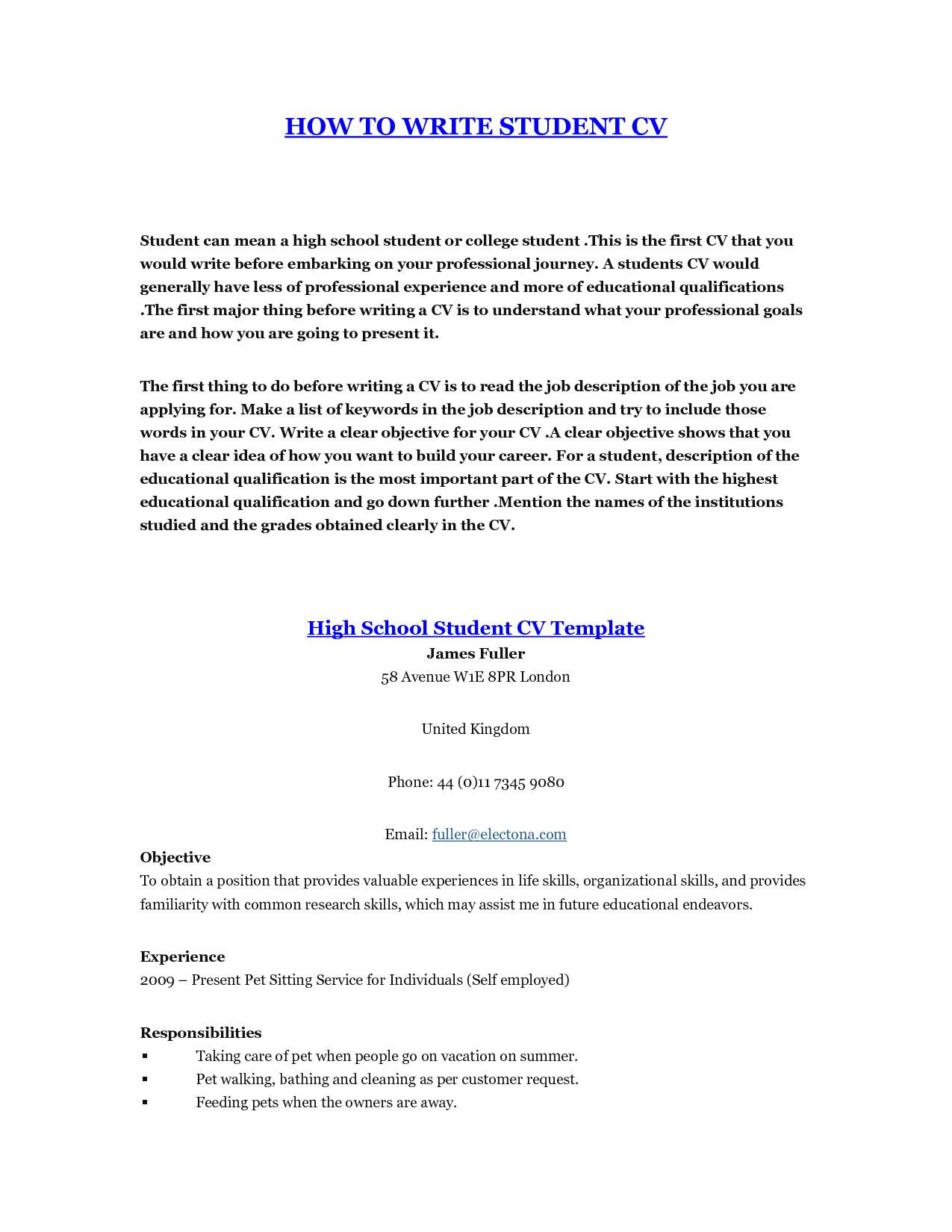 Student Resume Template http//www.jobresume.website