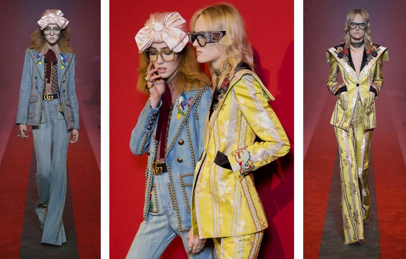 Giacche e pantaloni lunghi e delicati contraddistinguono gli abiti sartoriali di Alessandro Michele. - Gucci Stories