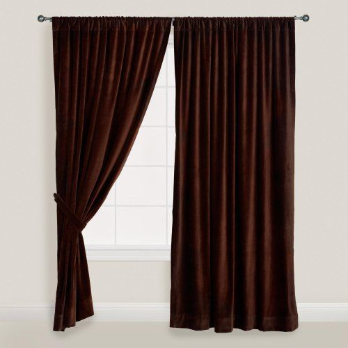 Chocolate Brown Velvet Curtain World Market By Cost Plus 27 99 Create