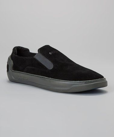 Look what I found on #zulily! Black & Gray Suede Perez Slip-On Sneaker - Men #zulilyfinds