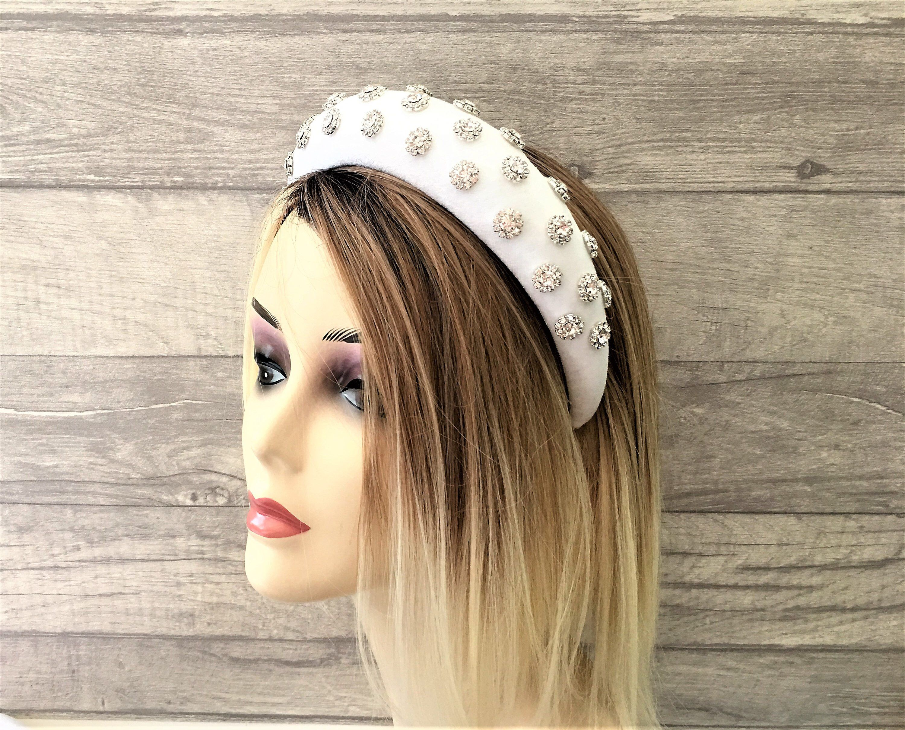 Bead Crystal Headband Beautiful Womens Girls Alice Hair Head Band Accessories