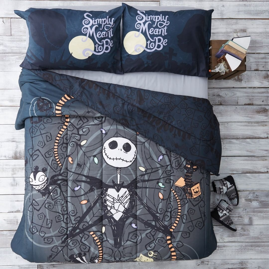 Nap All Day And Sleep All Night Shop This Nightmare Before Christmas Bedding Mor Nightmare Before Christmas Bedding Christmas Bedding Christmas Bedding Set